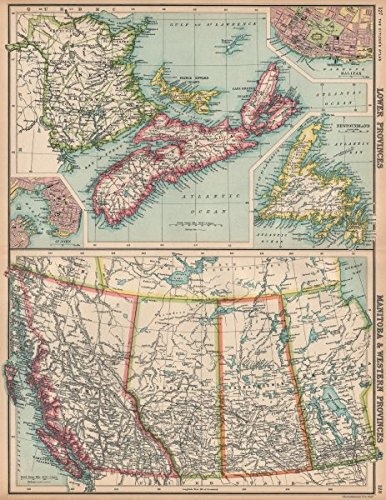Map Of Canada Halifax.Amazon Com Canada Western Maritime Provinces Inset St John