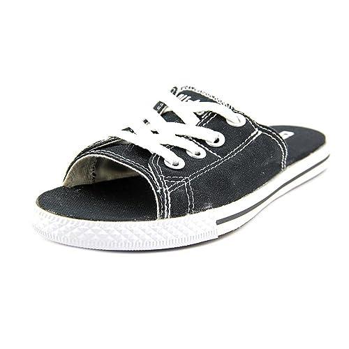 Converse Women s The Chuck Taylor All Star Cutaway EVO Canvas Sandal 10.5  Black 050d97823