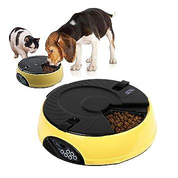 DJLOOKK Perros comederos automáticos Alimentador automático para ...