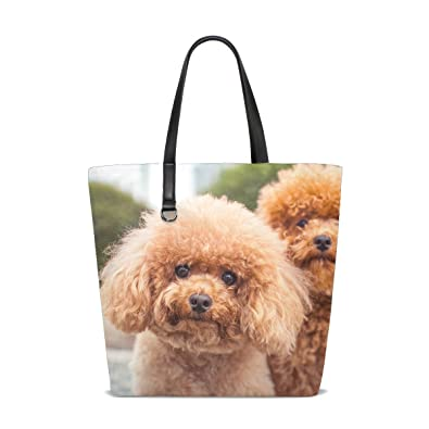 Amazon.com  Animal Dog Poodle Fluffy Small Puppy Adorable Pet Cute Tote Bag  Purse Handbag For Women Girls  Shoes 4f0f8c1dee