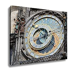 Ashley Canvas The Astronomical Clock On The Tower Of The City Hall In The Old Town Square In Wall Art Decor Stretched Gallery Wrap Giclee Print Ready to Hang Kitchen living room home office, 24x30