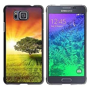 "For Samsung Galaxy Alpha G850 , S-type Puesta de sol Beautiful Nature 4"" - Arte & diseño plástico duro Fundas Cover Cubre Hard Case Cover"