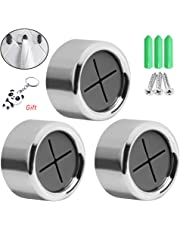 nuosen 3 Pieces Premium Adhesive Round Towel Holder, Adhesive Towel Hooks Round Wall Mount Hook Tea Towel Holder for Bathroom, Kitchen and Home, No Drilling Required