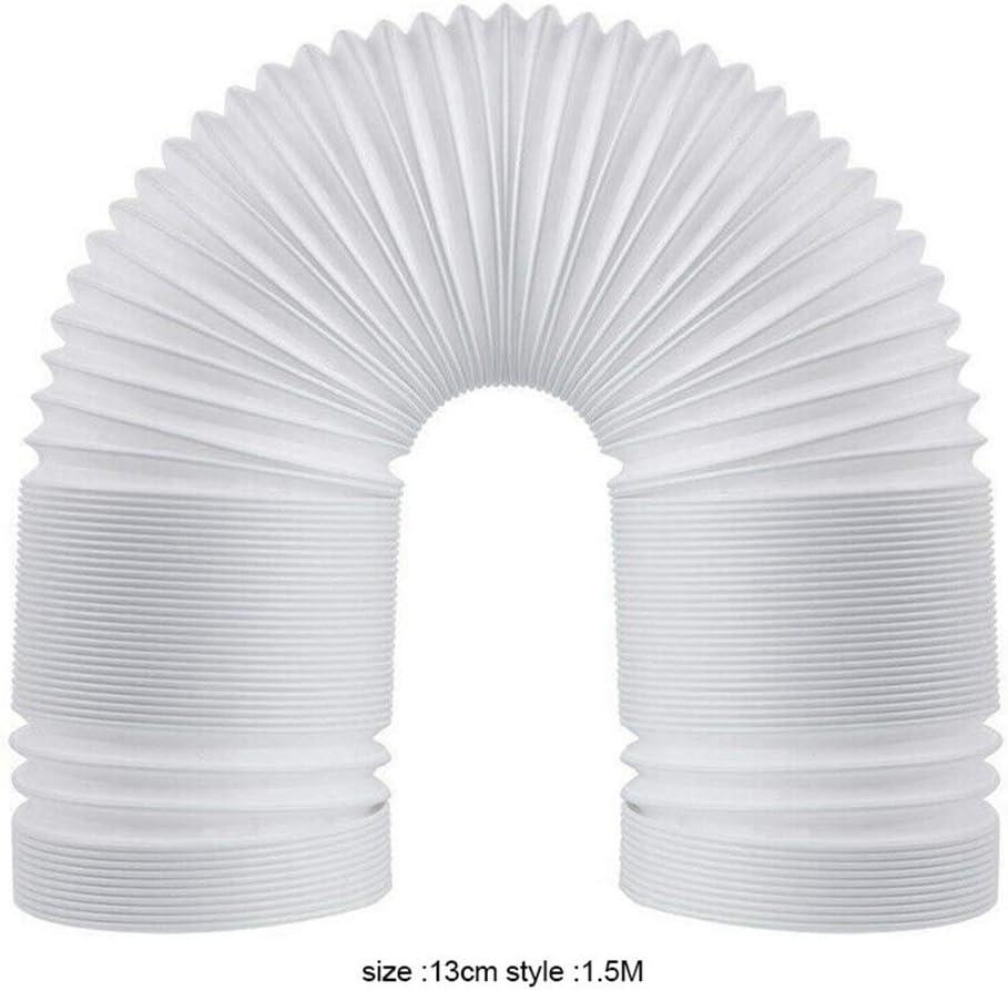 13cmx1.5M Reuvv Condizionatore dAria Tubo PVC Estensione Regolabile Cellulare Scarico Ventilatore Fascetta Aspirazione Porta Diametro 13//15Cm Ricambio Universale Flessibile per Aria