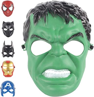 Boy Cool Heros LED Mask Light Up Cosplay Halloween Party Christmas Mask Kid Toys