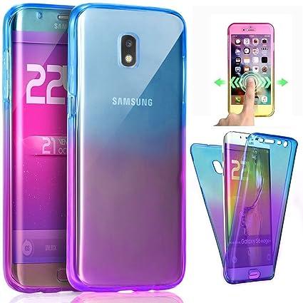 0f40fc5d9d9 Funda Samsung Galaxy J5 2017 (J530),Carcasas [Nueva Versión] [Cover 360  Grados] ,Funda Doble Delantera + ...