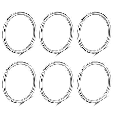 Amazon.com: 20 G G23 anillo de nariz de titanio aro de 0.315 ...