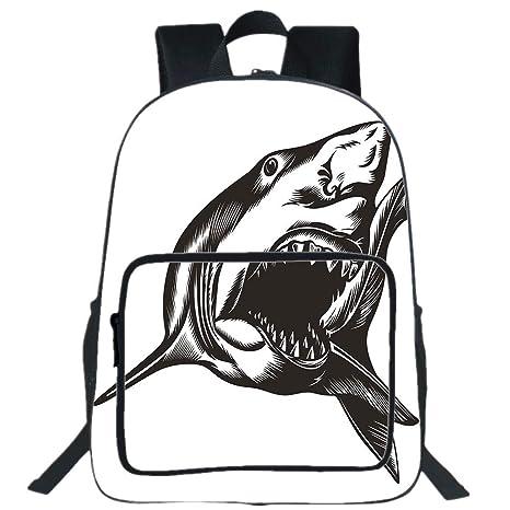 Amazoncom Iprint 19 Large Casual Backpacksharkdigital