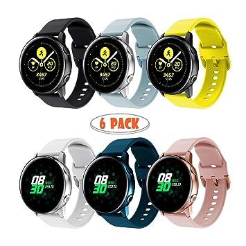 Yayuu para Samsung Galaxy Watch Active Correa, Silicona Reemplazo Correas 20MM Banda Pulseras de Repuesto Correa Suave Compatible con Samsung Galaxy ...