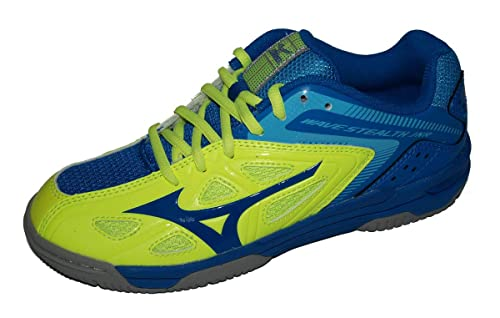 d9b5ada12359 Mizuno Wave Stealth 3 Indoor Junior Court Shoes - J2 Blue: Amazon.co ...