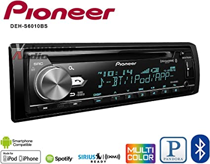 USB Aux Input Pioneer DEH-S6010BS CD Receiver with Bluetooth SiriusXM Ready