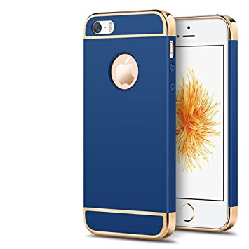 quality design a6087 a17f9 Hayder iPhone 5 Case/iPhone 5S Case/iPhone 5E Case 3 in 1 Hybrid Ultra-thin  Shockproof Electroplate Hard Cover for Apple iPhone 5/iPhone 5S/iPhone 5E  ...