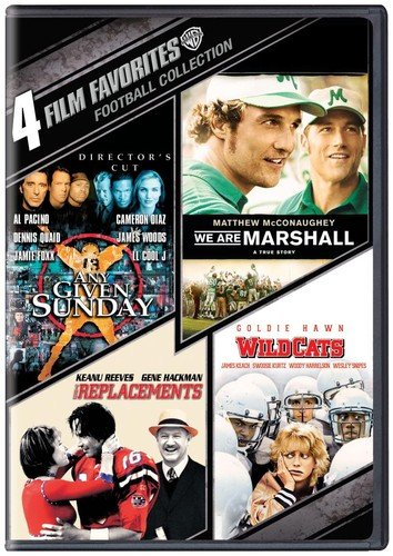 4 Film Favorites: Football  (We Are Marshall,Any Given Sunday: Director's Cut, The Replacements, -