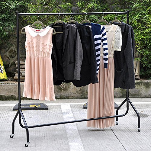 go2buy Portable Heavy Duty Rail 6ft Clothes Garment Dress Hanging Display Stand Rack