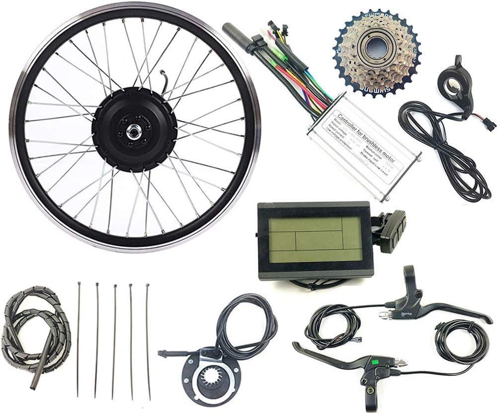 WBS-TIES Rueda de bicicletaEléctricos de la conversión de la Bicicleta Kit Girar Motor de la Rueda EBike 24V 250W con KT LCD3 Display 16-28 Pulgadas 700C,20inch LCD Sets