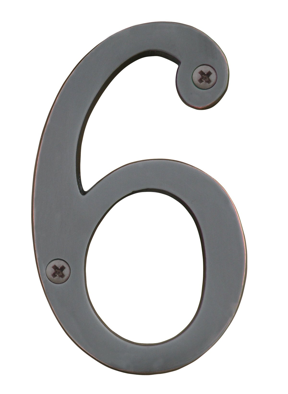 Knoxx Hardware BBB4N606 Oil Rubbed Bronze Address Numbers Traditional 4'' Numeral 6