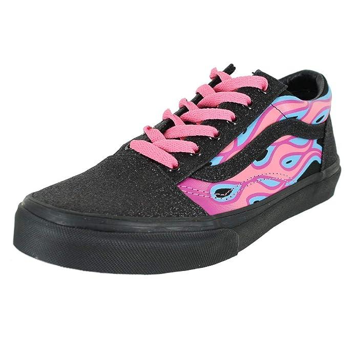Vans Old Skool Unisex Sneakers Unisex Sparkle Flame Pink