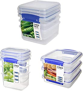 Sistema Klip It 3-Day Meal Prep Lunch Food Storage Container Set, 18-Piece