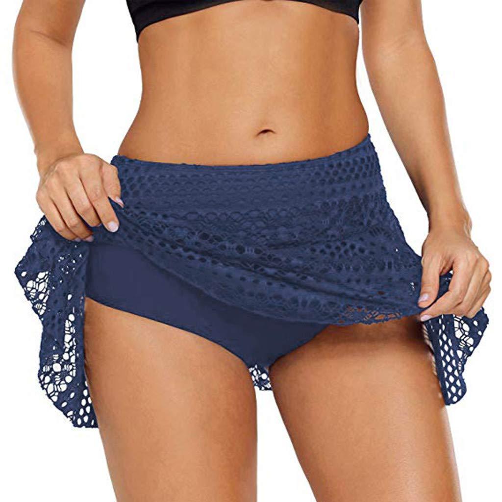 Dragon868 Pantalones Cortos de natación Suaves Mujeres de Encaje ...