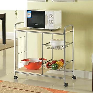 KIU estante del almacenaje del/ cocina ducha/Almacenamiento racks/Multifuncional Mampara de madera/la rueda parrilla/Parrillas: Amazon.es: Bricolaje y herramientas