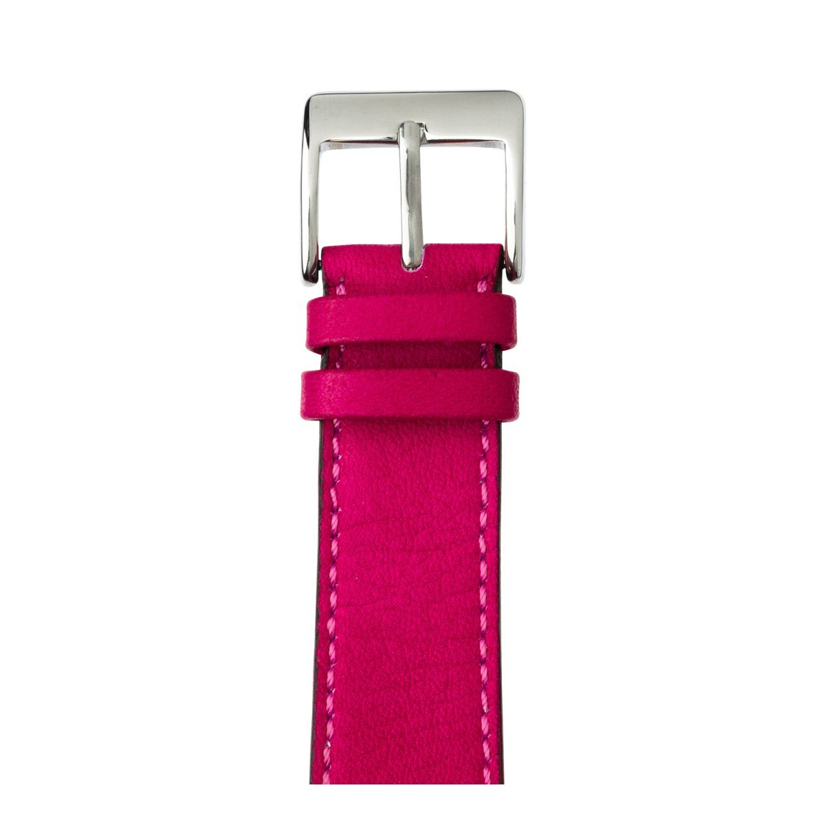 Roobaya | Premium Sauvage Leather Apple Watch Band in Pink | Includes Adapters matching the Color of the Apple Watch, Case Color:Stainless Steel, Size:38 mm