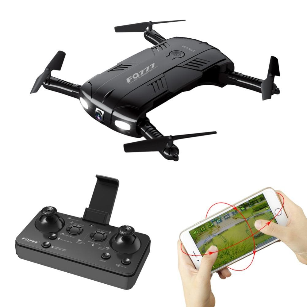 Choosebuy RC Drone with HD Camera, WiFi 2.0MP Camera Live Feed FPV/One Key Return/Foldable Quadcopter/Headless Mode Toy Outdoor Gift for Beginners (Black) by Choosebuy (Image #2)