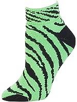 Animal Print Anklet Sock, Neon Lime