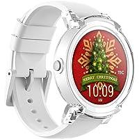 Ticwatch E Ice Smartwatch Bluetooth Montre Connectée avec écran OLED 1, 4 Pouces, Android Wear 2.0, Sportswatch Compatible avec Android et iOS, Langue française Disponible Disponible