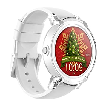 TicWatch E Ice Smartwatch Intelligente Armbanduhr mit 1,4 Zoll OLED-Display, Android Wear 2.0, Sportuhr Hochwertig Kompatibel