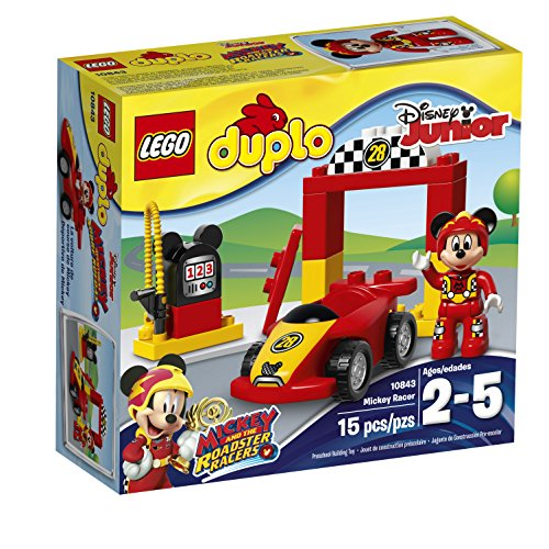 LEGO Duplo Brand Disney 6174752 Mickey Racer 10843 Building Kit (15 Piece)]()