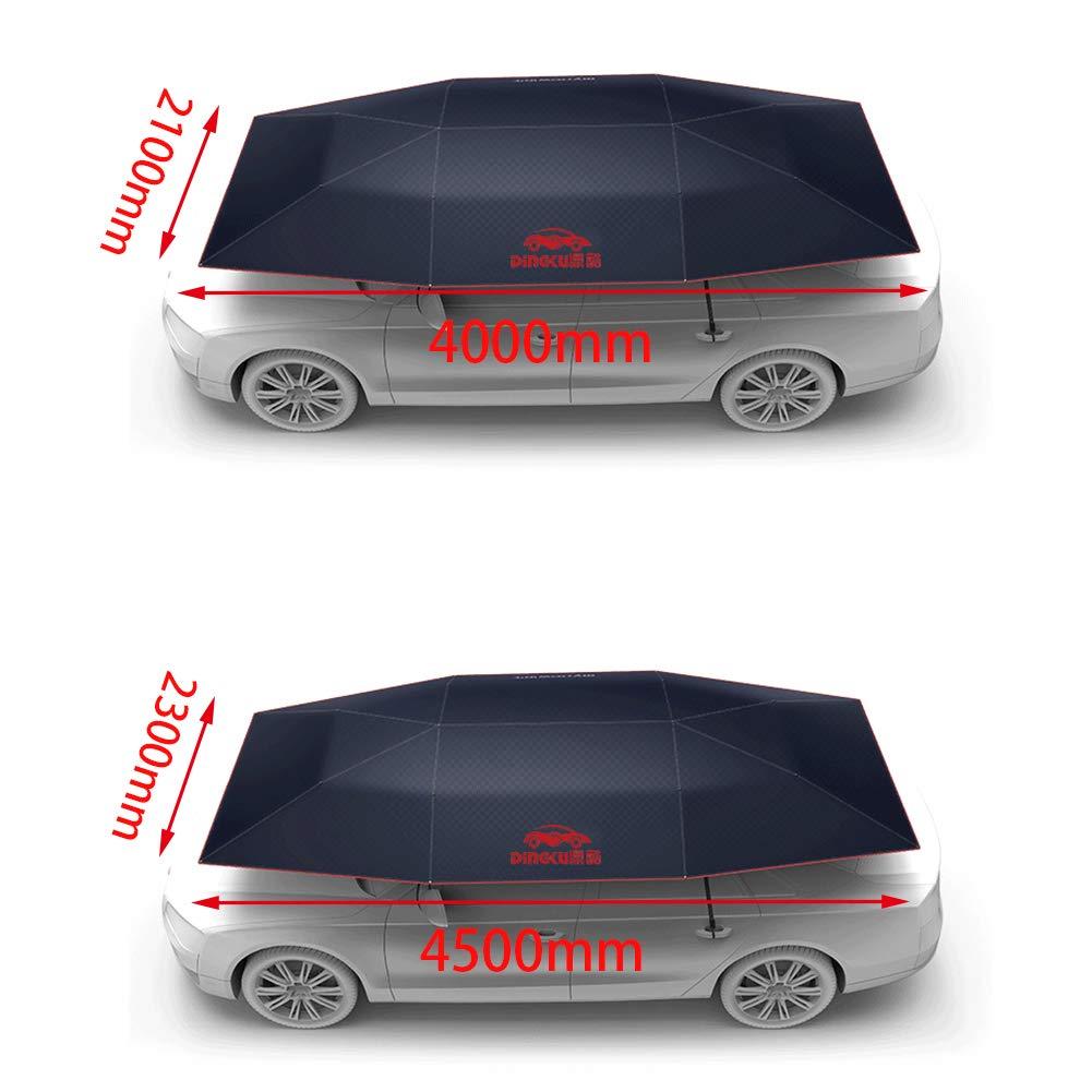 MCLseller Auto Ombrello Coprisedile Tendalino Parasole Coprirevole Copertura per Auto Mobile Tenda Anti-UV Impermeabile Isolamento Anti-Neve