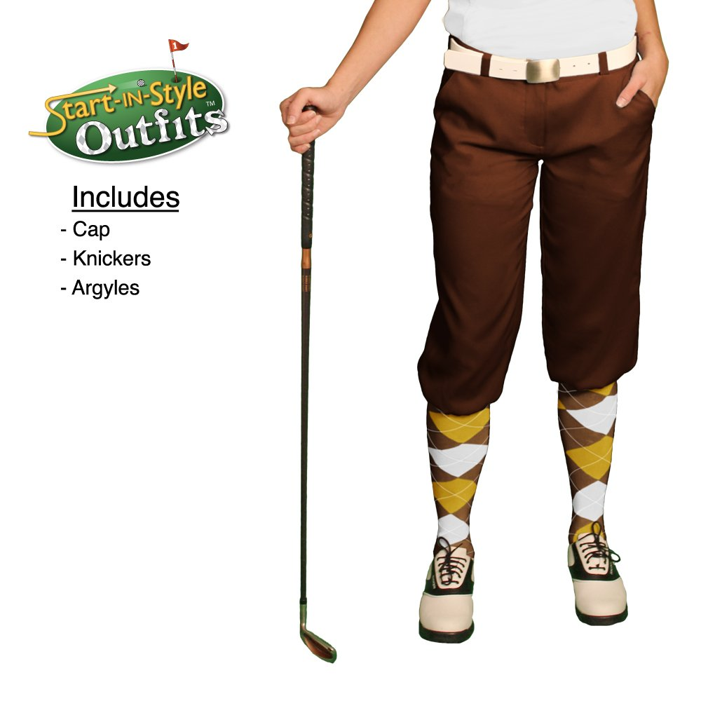 1920s Style Women's Pants, Trousers, Knickers, Tuxedo Golf Knickers Start-in-Style Outfit - Ladies - Brown $119.95 AT vintagedancer.com