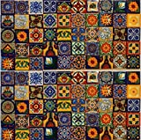 USA Premium Store 100 Mexican Talavera TILES 2x2 Clay Handmade Folk Art