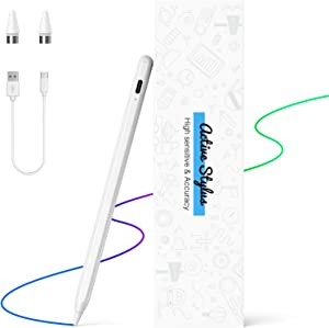 Stylus Pens for Touch Screens, NTHJOYS Active Stylus Pen for iOS/Android with Magnetic Design Fine Point Stylist Pencil Compatible with Apple iPad/Pro/Air/Mini/iPhone/Samsung/Tablets Writing & Drawing