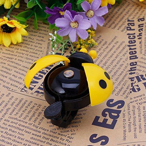 Stebcece Kid Children Ladybug Bike Bicycle Cycling Handlebar Ring Sound Bell Horn Alarm (yellow)