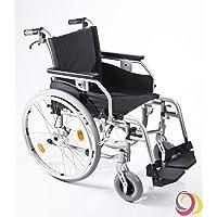 bescomedical Rollstuhl Primus MS 2.0, Faltbar, Trommelbremse mit Steckachsensystem, Sitzbreite 52 cm