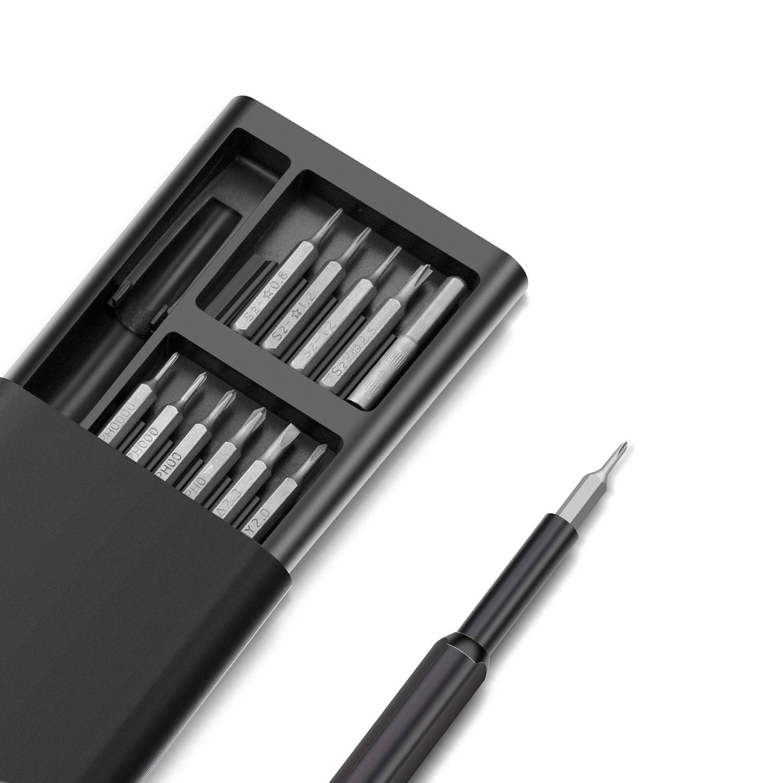 Portable Pocket Mini Screwdriver Tool Set ZJ Precision Screwdriver Set 25 in 1 Magnetic Driver Kit with 24 Bits Professional Electronics Repair Tool Kit