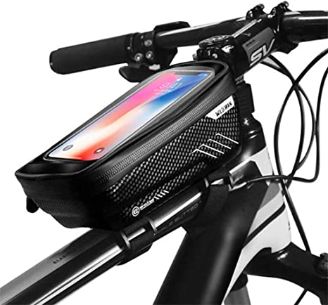 "4.7-6.2/"" Mobile Phone GPS Holder Bicycle Touch Screen Bag Bike Front Frame Bag"