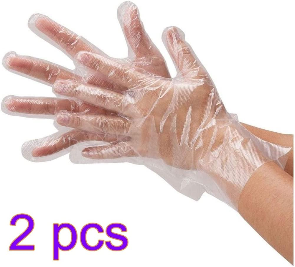 Mobestech 200pcs Disposable Gloves Transparent Hand Protective Gloves Polyethylene Safety Gloves for Outdoor Hands Protection