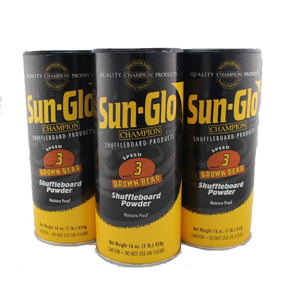 Sun-Glo #3 Speed Shuffleboard Powder Wax - 3 Pack by Game Room Guys