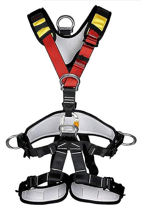 Yundxi Arnés de Seguridad de Cuerpo Completo para Escalada al Aire ...
