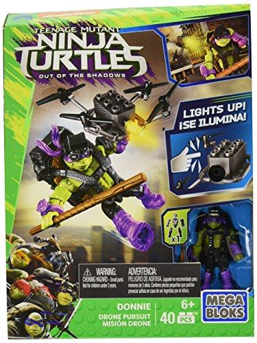 Mega Bloks Teenange Mutant Ninja Turtles: Out of The Shadows Donnie Drone Pursuit Playset (Ninja Turtles Donnie)