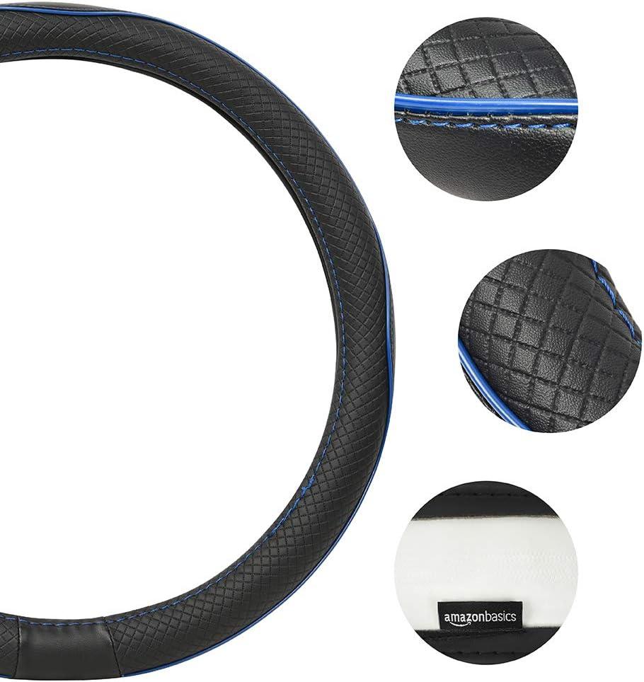 Basics 38 cm Lenkradbezug schwarz aus Kunstleder