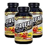 Labrada Nutrition EFA Lean Gold Essential Fatty Acid Softgel Capsules, 180-Count Bottle (Pack of 3)
