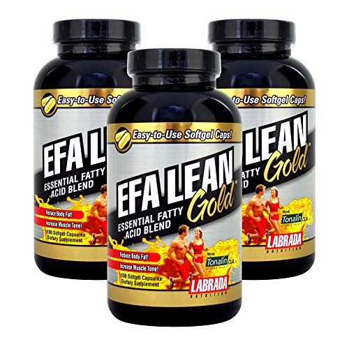 Labrada Nutrition EFA Lean Gold Essential Fatty Acid Softgel Capsules, 180-Count Bottle (Pack of 3) For Sale