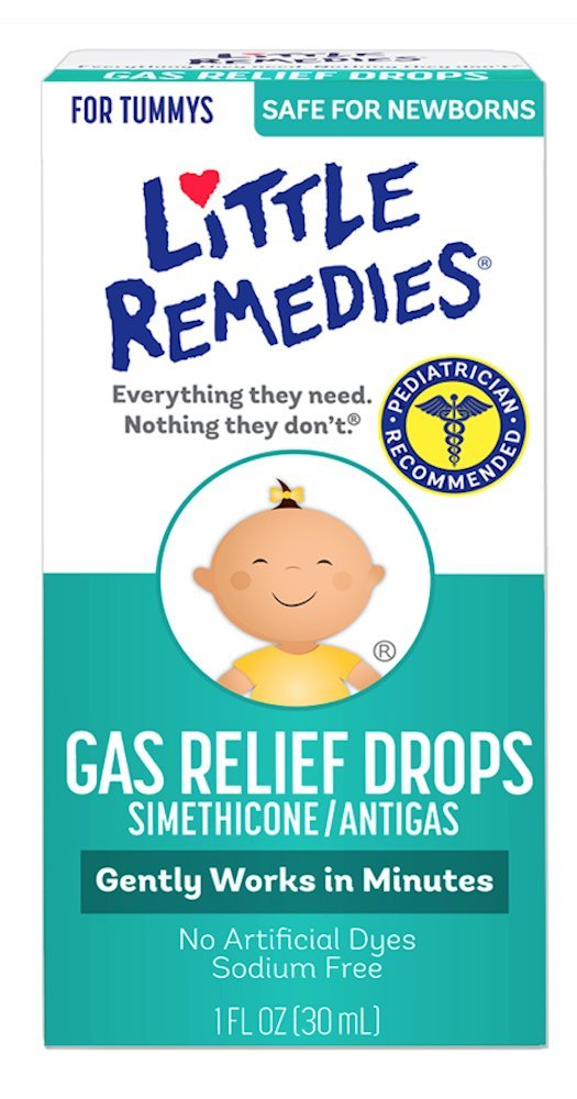 Little Remedies Tummy Relief Drops, Natural Strawberry Flavor, Safe For Newborns, 1 Ounce, Packaging May Vary