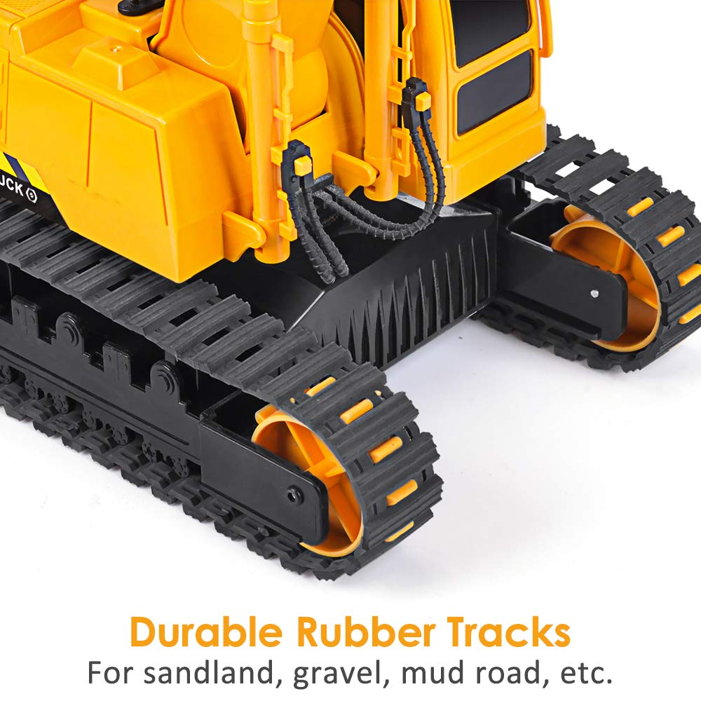 DOUBLE  E Remote Control Truck RC Excavator Toy with Rechargeable Battery Lights and Sounds 2.4GHz Construction Vehicles Tractor 1/26 by DOUBLE  E (Image #6)