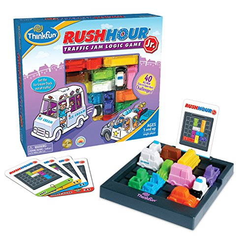 ThinkFun Rush Hour Junior Traffic Jam Logic Game and STEM Toy for Boys and Girls Age 5 and Up – Junior Version of the International Bestseller Rush Hour