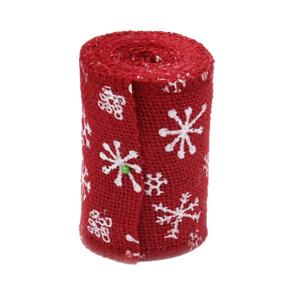 Outflower 3m Rollo de Yute Natural Imprimiendo Bricolaje Manualidades Creativo Mano Decoracion de Boda//Navidad//Fiesta de Cumplea/ños Rollo de Cinta de Arpillera Navidad