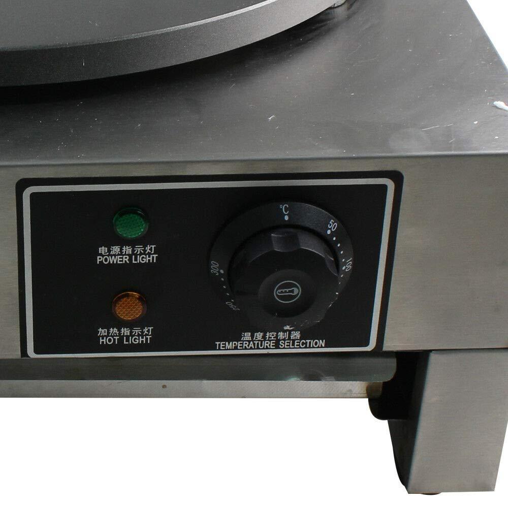 Acero Inoxidable Comercial de M/áquina de Crepes del Fabricante del Cresp/ón del Di/ámetro de 3000W 40cm